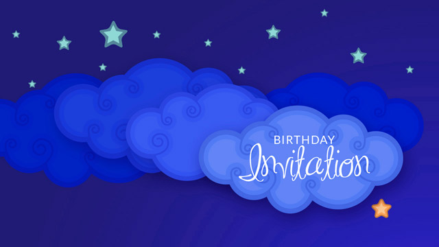 starry-birthday-invitation-video