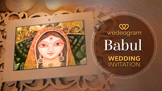 Babul wedding invitation video
