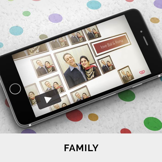 Personalise and send video greetings to the ones you truly love