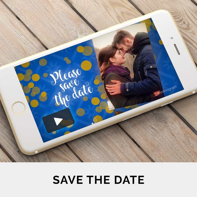 Announce your wedding with Creative Save The Date Video Invitations