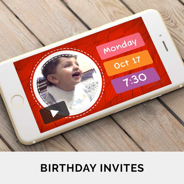 Create and share animated birthday invitation videos online