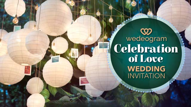 celebration of love wedding wedding invitation video