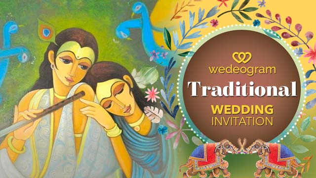 traditional wedding invitation video