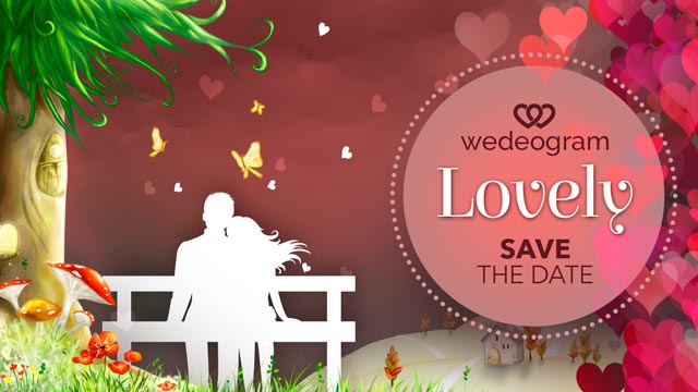 lovely wedding invitation video