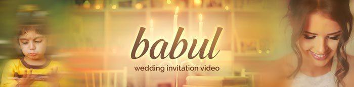 babul wedding invitation video