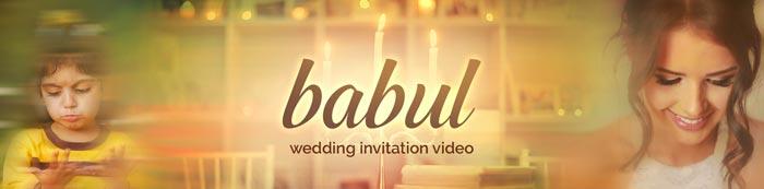 Beautiful and Heartwarming wedding invitation video