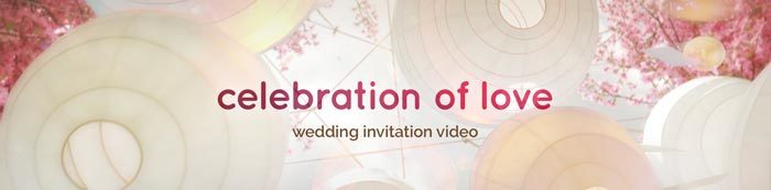 celebration of love wedding invitation video
