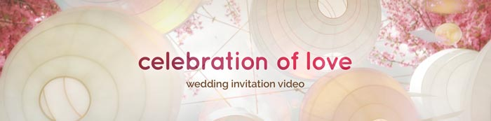 Modern and Romantic wedding invitation video