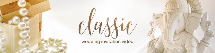 Traditional and classic wedding invitation for Hindu wedding