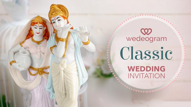 classic wedding invitation personalised video - wedeogram