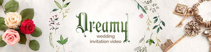 Dreamy and Romantic marriage invitation video