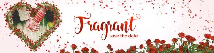 Fragrant wedding invitation Description
