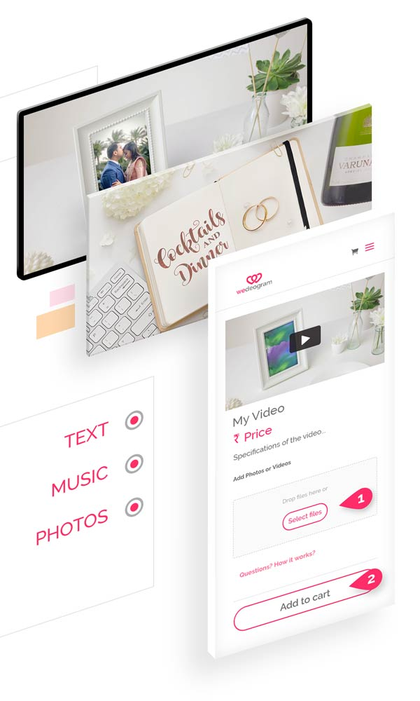 Customise Softly Save The Date Video with photos, text and more at wedeogram