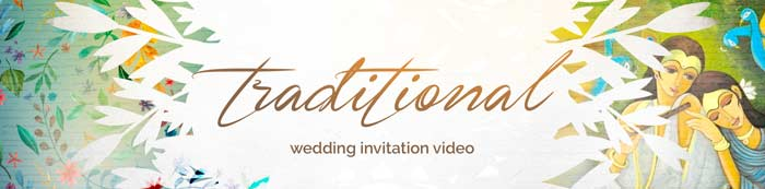 Traditional wedding invitation video Details