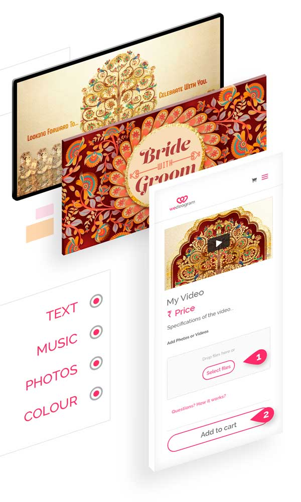 Easily Customise Traditional Wedding Invitation Video with photos, text and more
