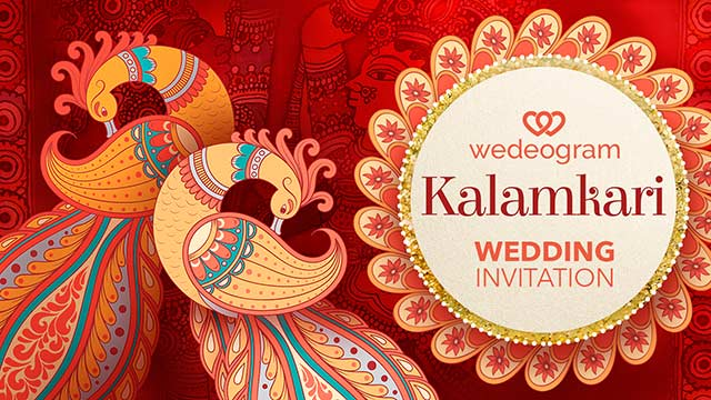 kalamkari painting theme wedding invitation video